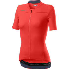 Castelli Anima 3 Jersey Korte Mouwen Dames, brilliant pink/dark steel blue